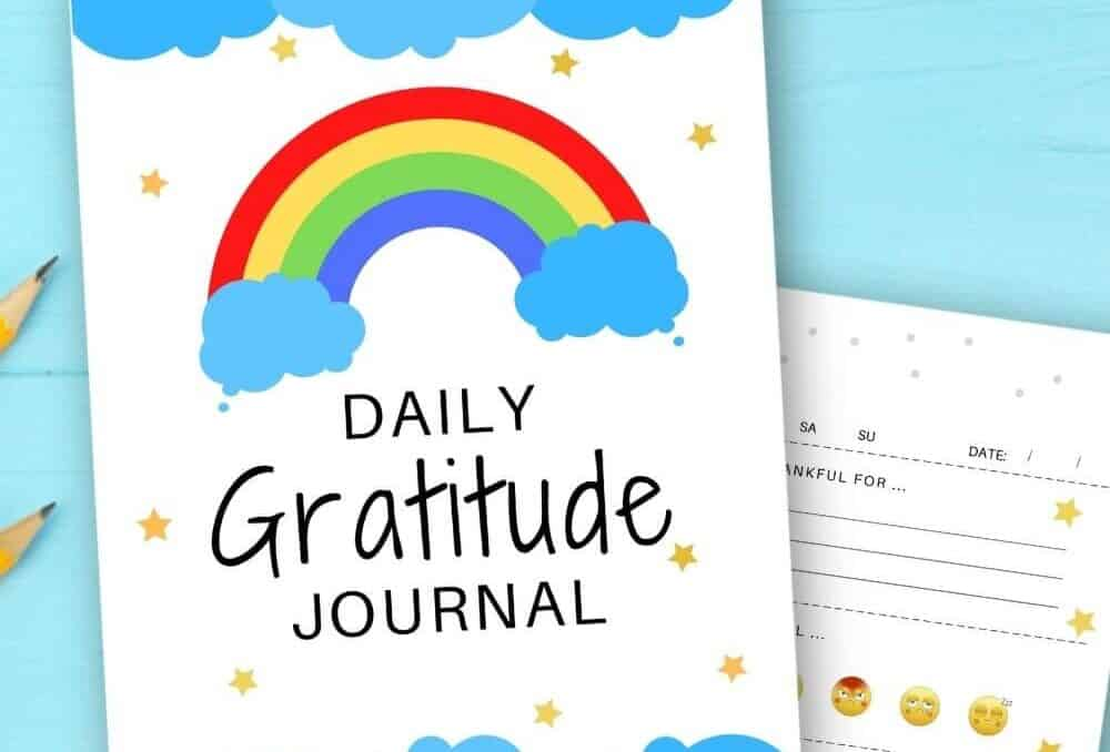 daily gratitude journal for kids printable pages