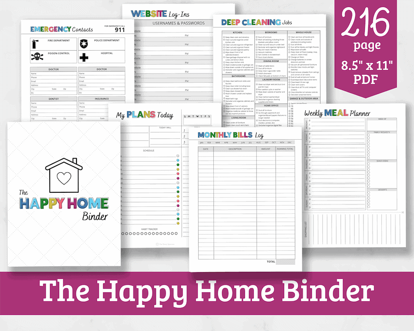 product image for home management binder