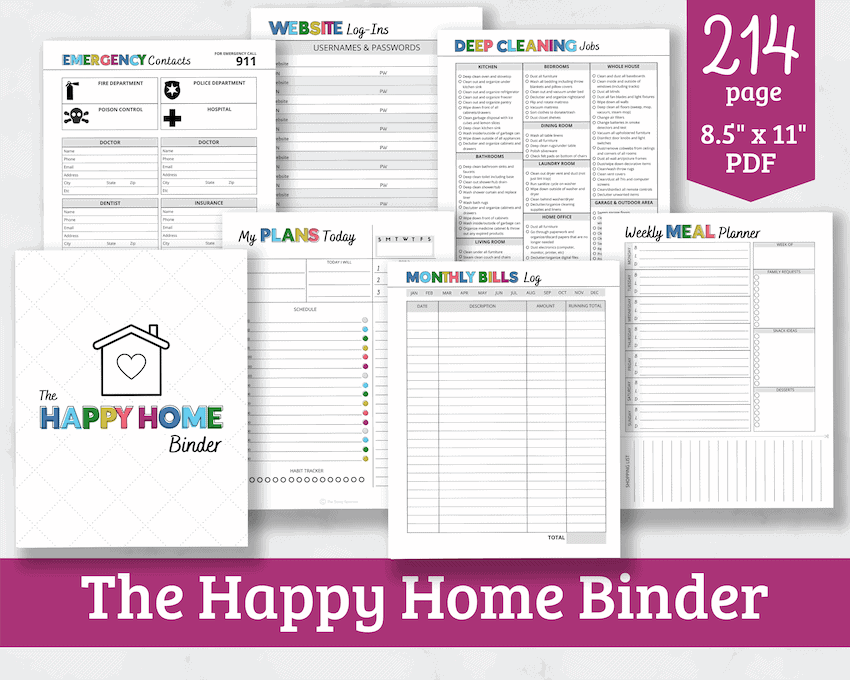 home management binder product photo