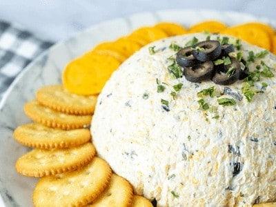 Easy Olive Cheeseball with Ranch Seasoning