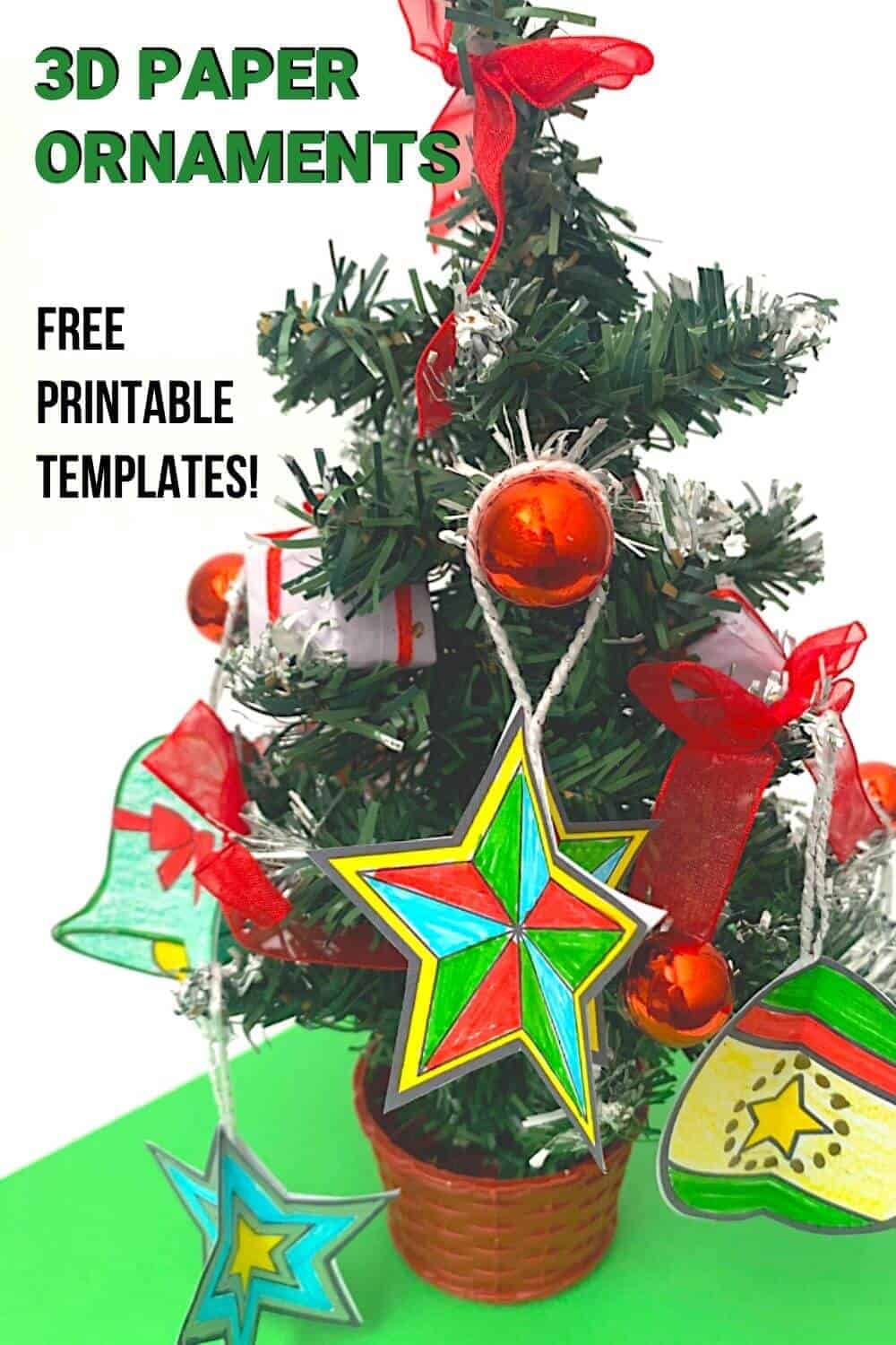 Christmas ornament crafts on a tree