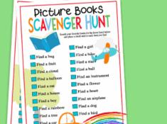 picture book scavenger hunts