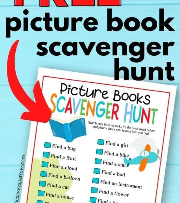 free picture book scavenger hunt printable