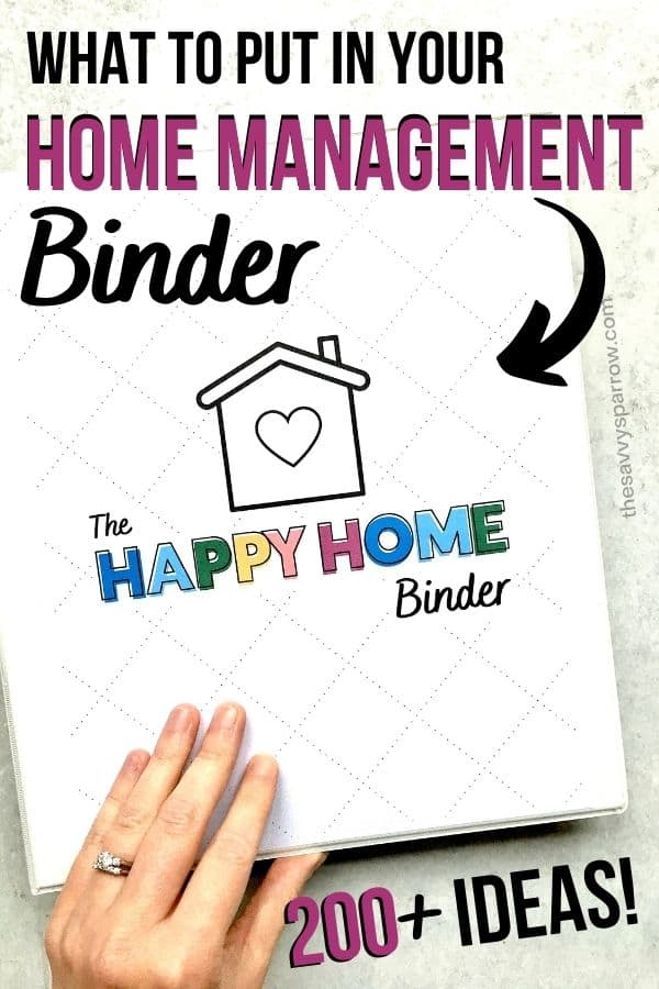 home management binder promotional graphic