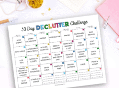 30 day decluttering challenge printable