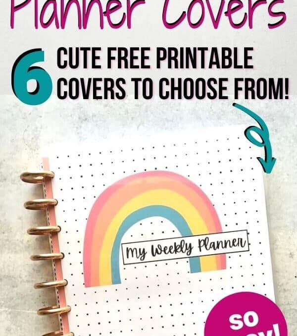 DIY planner cover printable for Happy Planner