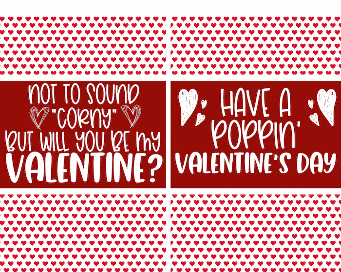 printable valentines for microwave popcorn