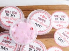 slime Valentines with printable labels