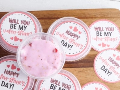 Valentine's Day Slime with Free Printable for Classroom Valentines