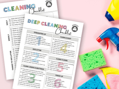 printable bedroom cleaning checklists