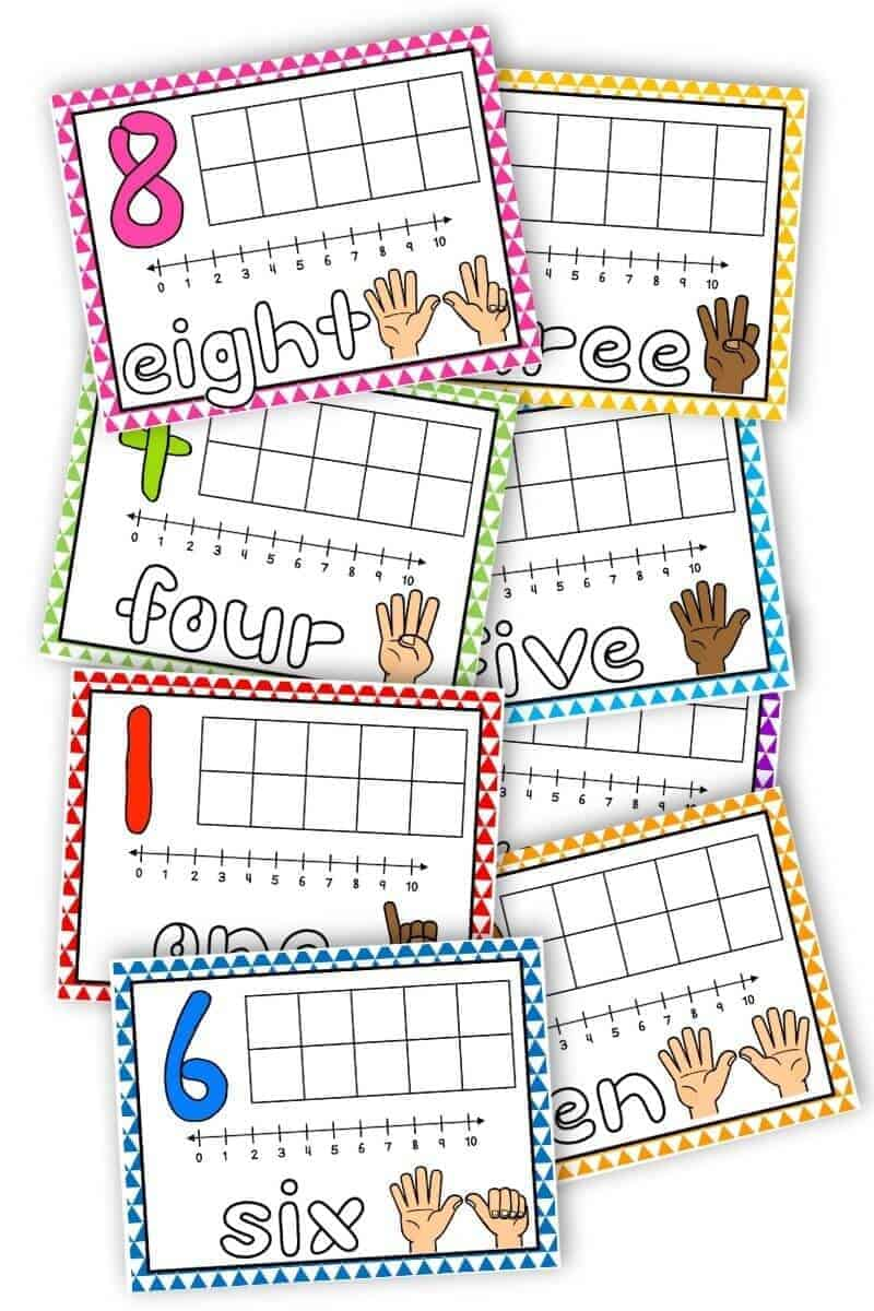 free printable playdough mats with numbers 0-10