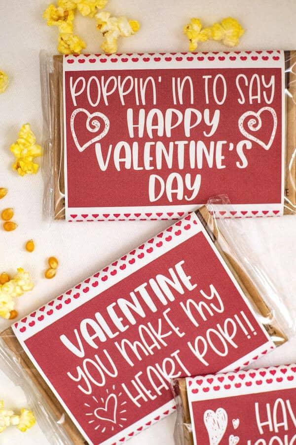 microwave popcorn valentines