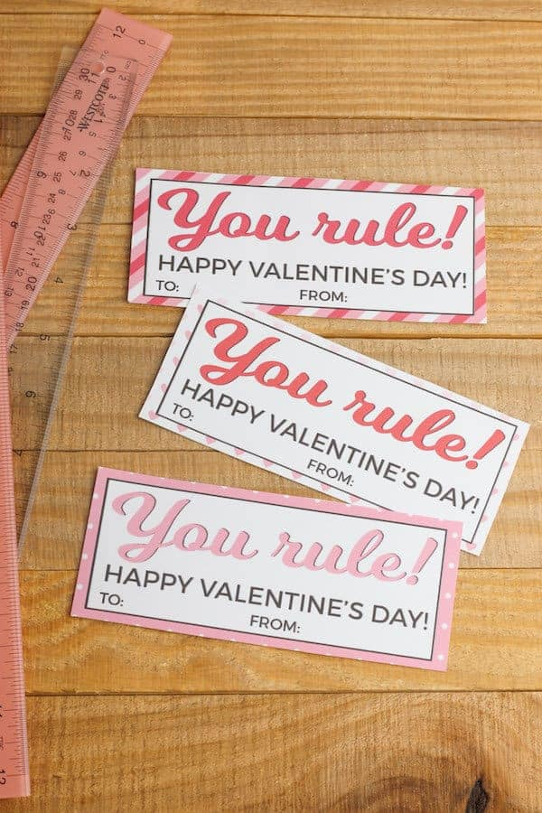 printed valentine cards that say you rule
