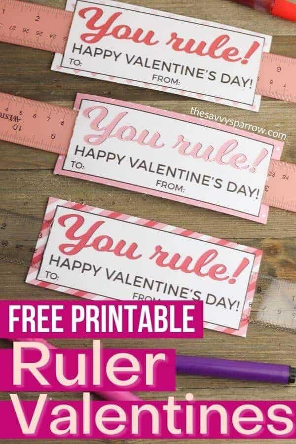 ruler valentines for kids