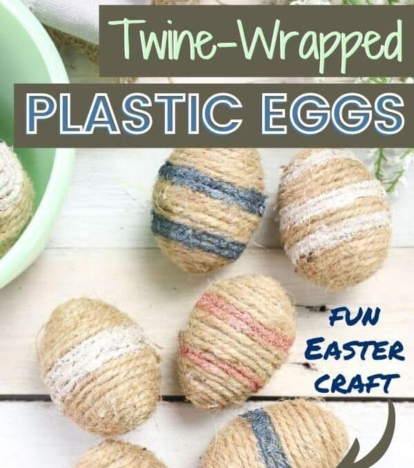 DIY twine wrapped easter eggs