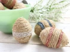 DIY twine easter eggs