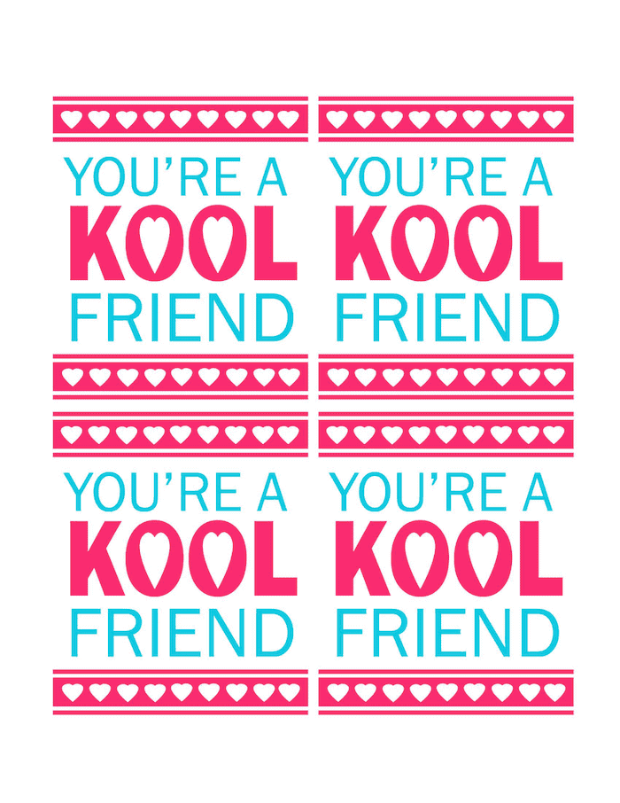 printable Kool Aid valentines for kids