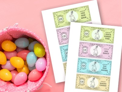 Easter Bunny Money for Easy Egg Fillers – Printable Coupons!