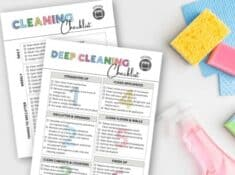 kitchen cleaning checklists