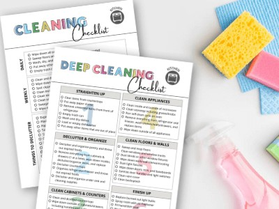 Kitchen Cleaning Checklist for Daily, Weekly, and Deep Cleaning