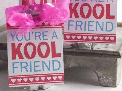 Kool aid Valentines on juice boxes