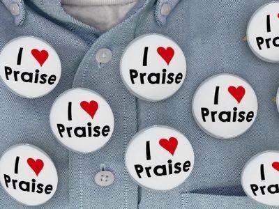 I love praise buttons on a man's shirt