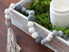painted wood bead garland