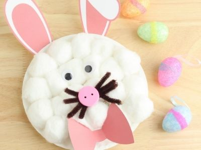 Easy Paper Plate Bunny Craft for Kids – with Template!
