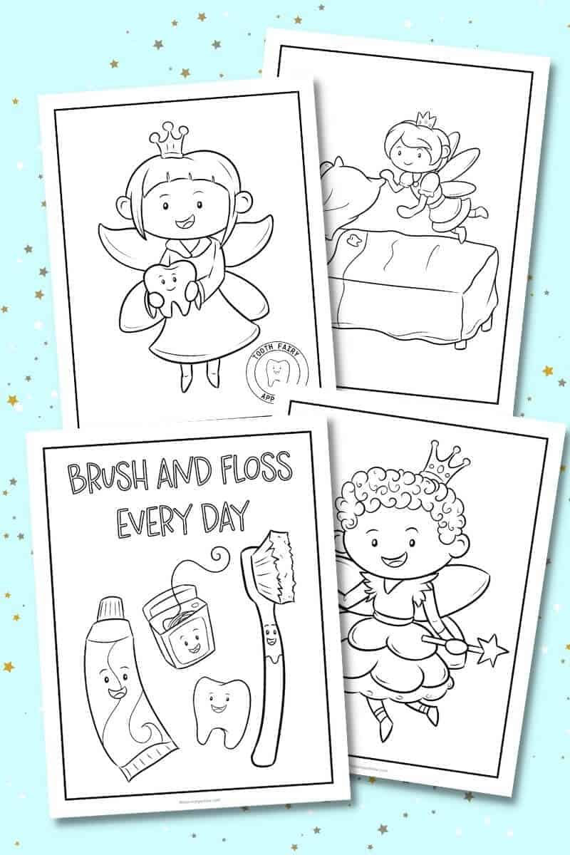 tooth fairy printable coloring pages