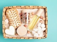 self care kit with bath products