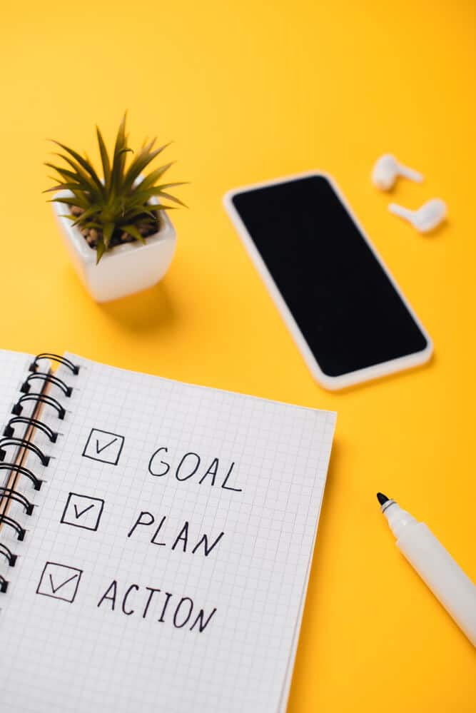 planner that says goal plan action