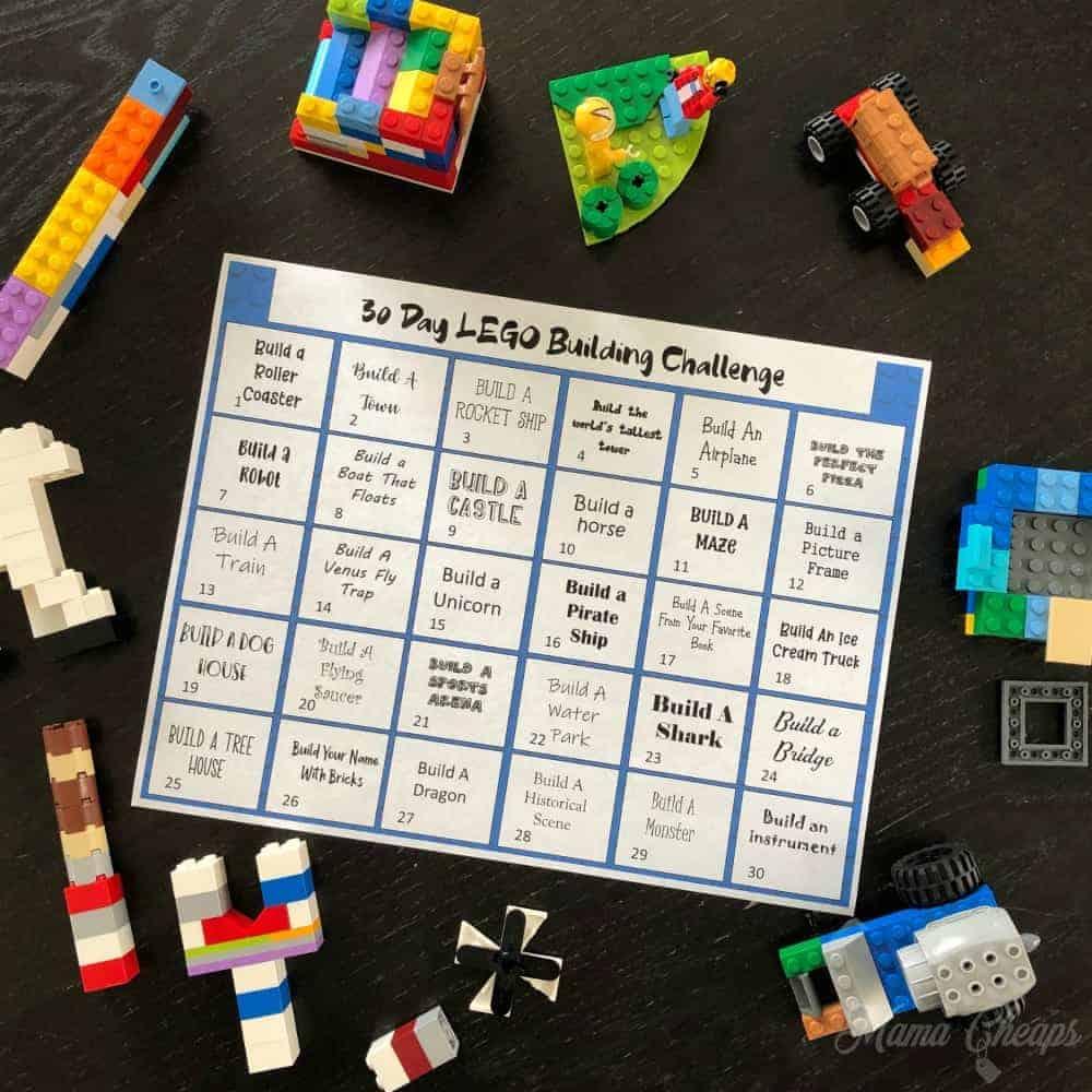 30 day lego building challenge printable