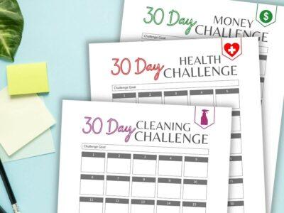 30 day challenge printable worksheets