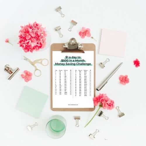 save $500 in a month challenge worksheet