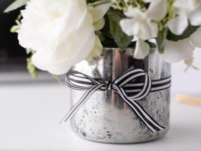DIY faux mercury glass vase