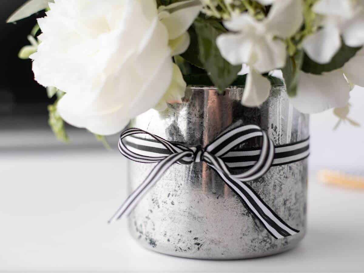 DIY faux mercury glass vase