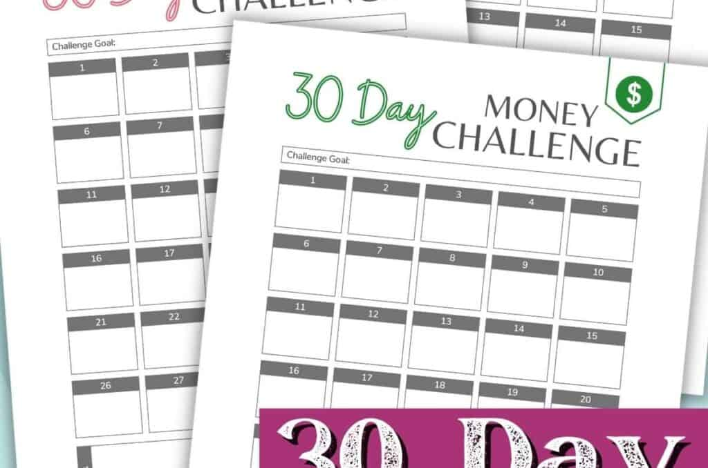 30 day challenge free printable worksheets