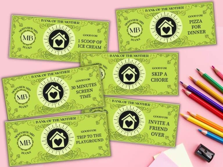 Mom Bucks – Awesome Printable Reward Coupons for Kids!