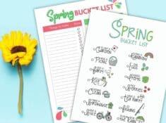 spring bucket list printables