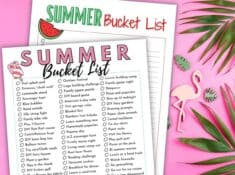printable summer bucket lists
