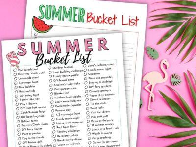 printable summer bucket lists