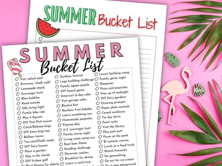 The Ultimate Summer Bucket List – 100 Ideas Kids will Love!