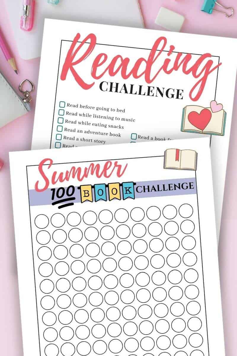 printable summer reading challenges for kids