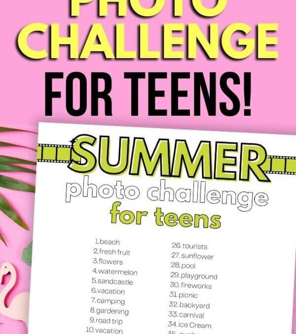 mockup of photo challenge printable