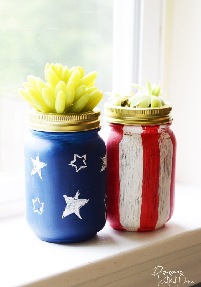 succulent planters made out of mason jars