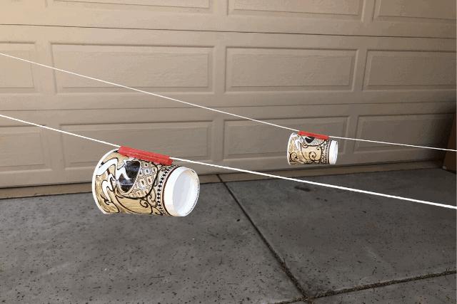 DIY water gun cup race game