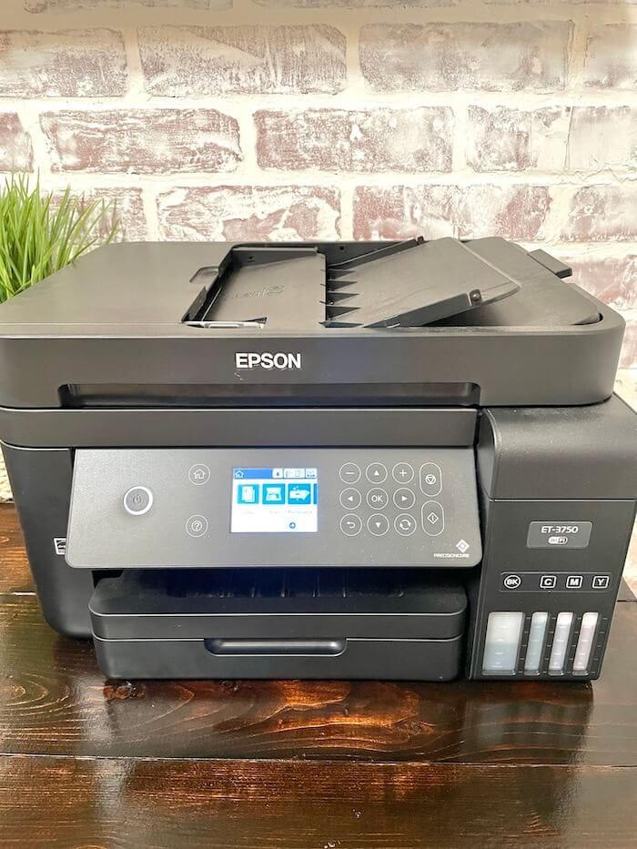 Epson printer on a desk