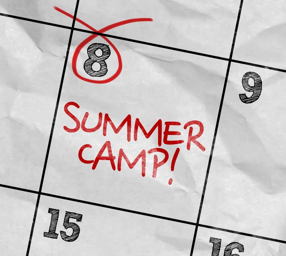 summer camp written on a schedule