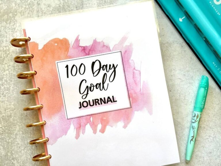 100 Day Goal Journal – Create an action plan for your goals!