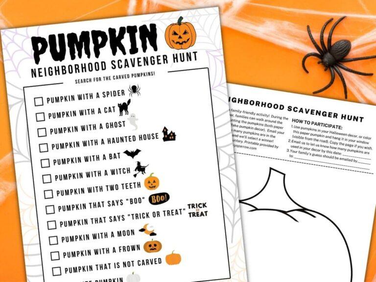 Pumpkin Scavenger Hunt for Kids – Fun Neighborhood Halloween Activity!